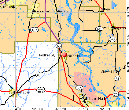 Redfield, AR map
