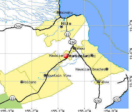 Kurtistown, HI map