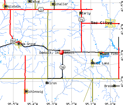 Odebolt, IA map