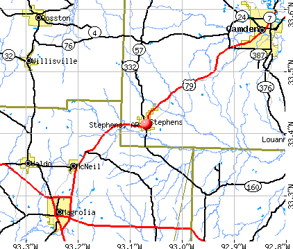 Stephens, AR map