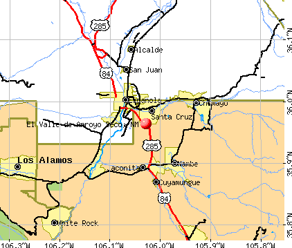 El Valle de Arroyo Seco, NM map