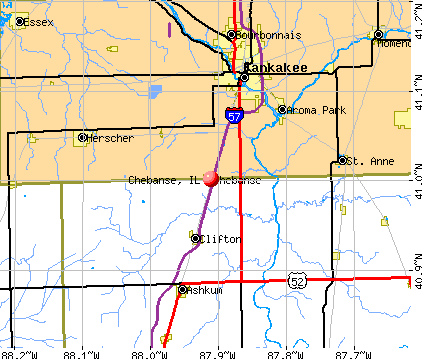 Chebanse, IL map