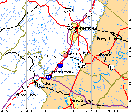 Stephens City, VA map