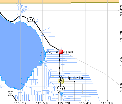 Niland, CA map