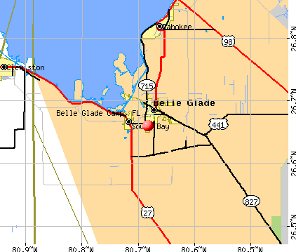 Belle Glade Camp, FL map