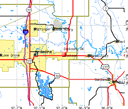Dickson, OK map