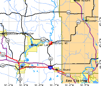 Colfax, WI map