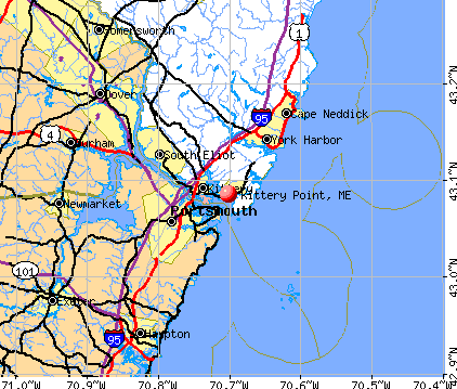 Kittery Point, ME map