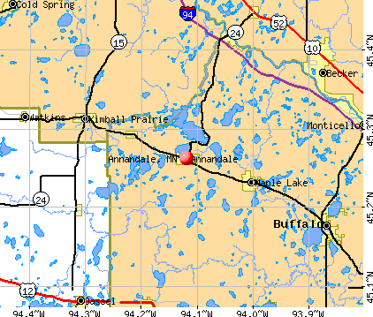 Annandale, MN map