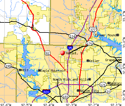 Haslet, TX map