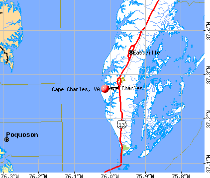 Cape Charles, VA map