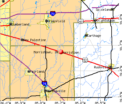 Morristown, IN map