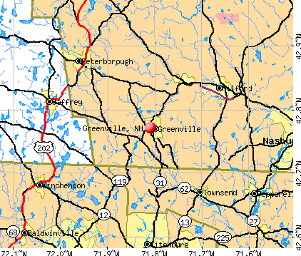 Greenville, NH map