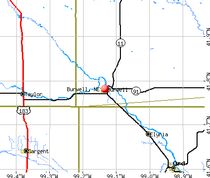 Burwell, NE map