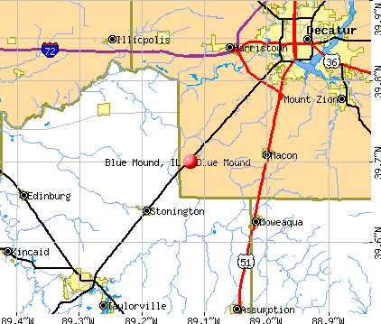 Blue Mound, IL map