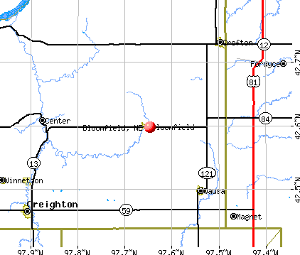 Bloomfield, NE map