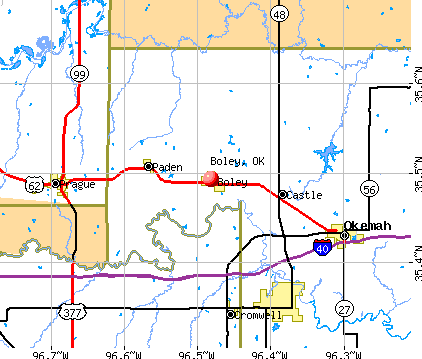 Boley, OK map