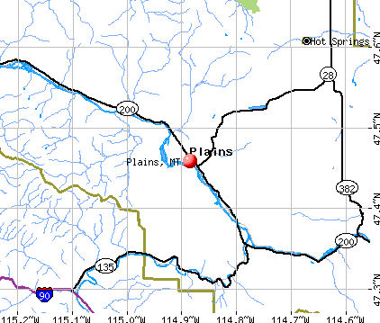Plains, MT map