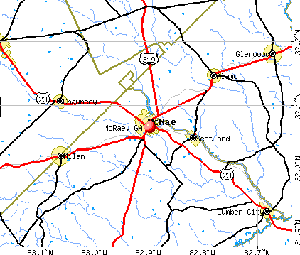 McRae, GA map