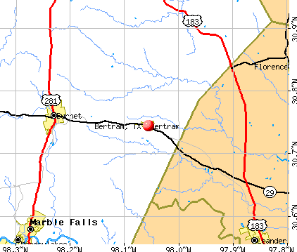 Bertram, TX map