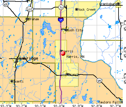 Harris, MN map