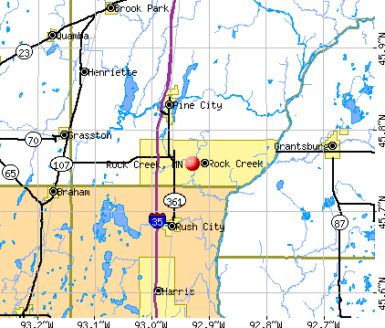 Rock Creek, MN map