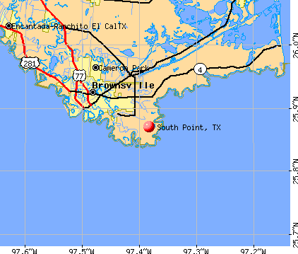 South Point, TX map