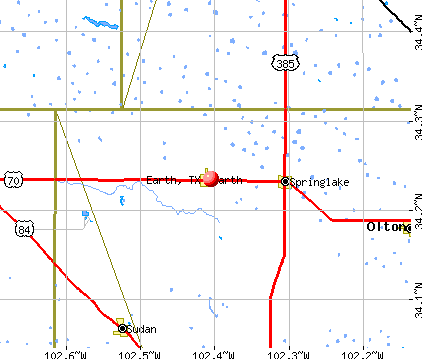 Earth, TX map