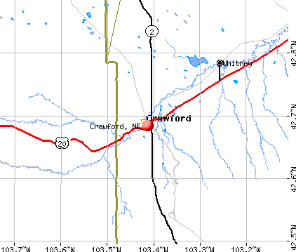 Crawford, NE map