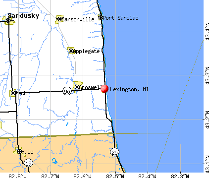 Lexington, MI map
