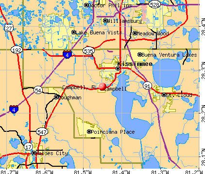 Campbell, FL map