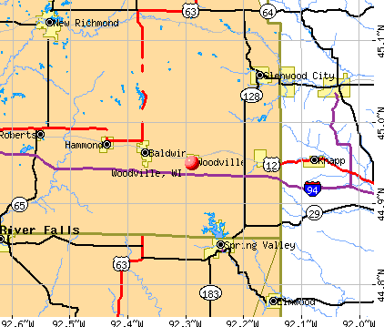Woodville, WI map