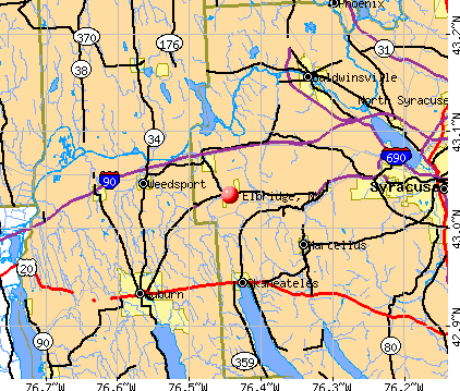 Elbridge, NY map