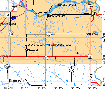 Weeping Water, NE map