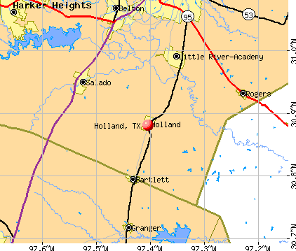 Holland, TX map