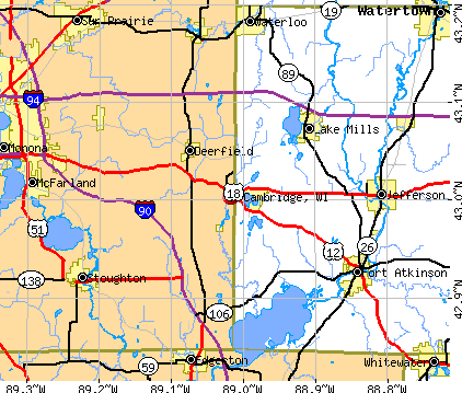 Cambridge, WI map