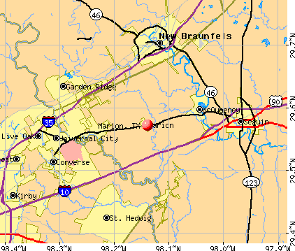Marion, TX map