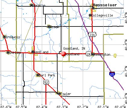 Goodland, IN map