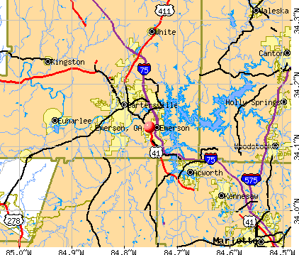 Emerson, GA map