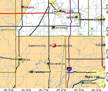 Summitville, IN map