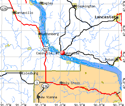 Cassville, WI map