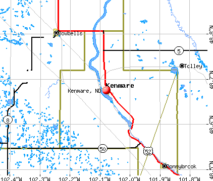 Kenmare, ND map