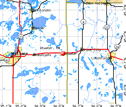 Atwater, MN map