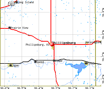 Phillipsburg, KS map