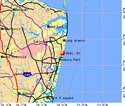 Deal, NJ map