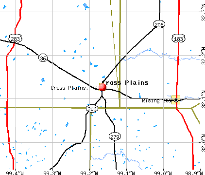 Cross Plains, TX map