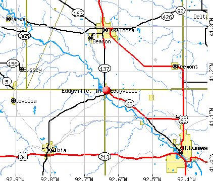 Eddyville, IA map