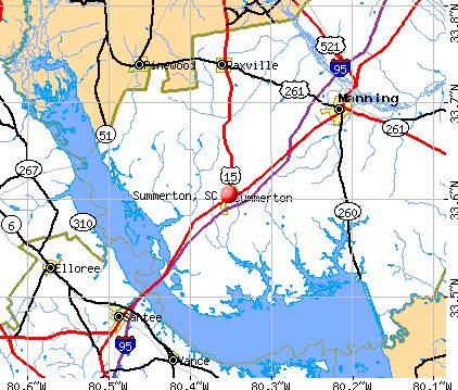 Summerton, SC map