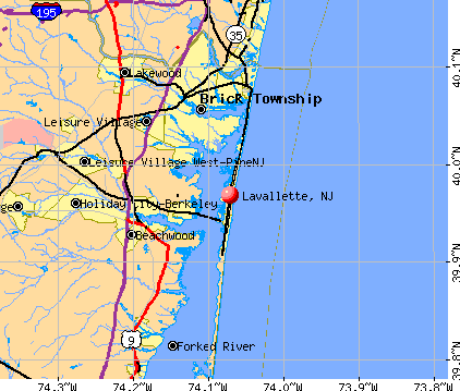 Lavallette, NJ map