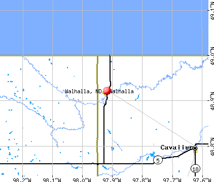 Walhalla, ND map